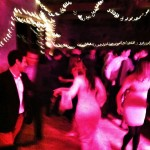 Dancing to Paddy's Whiskers at a Wedding Ceilidh in Devon