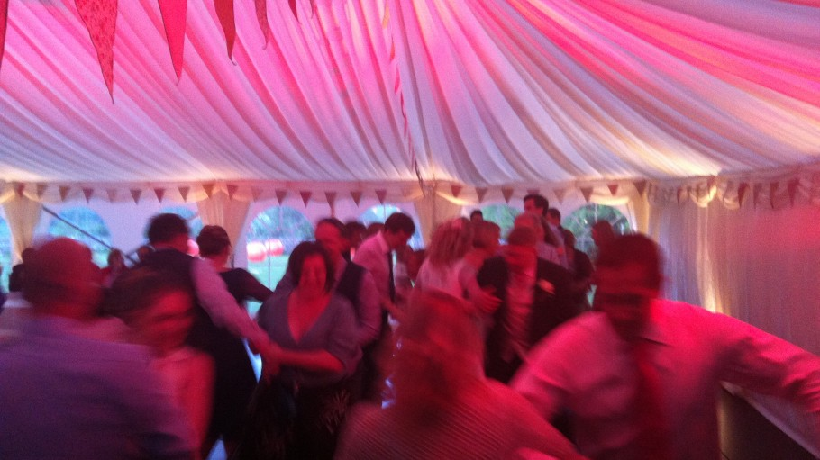 People dancing to Paddy's Whiskers Wedding Ceilidh Band