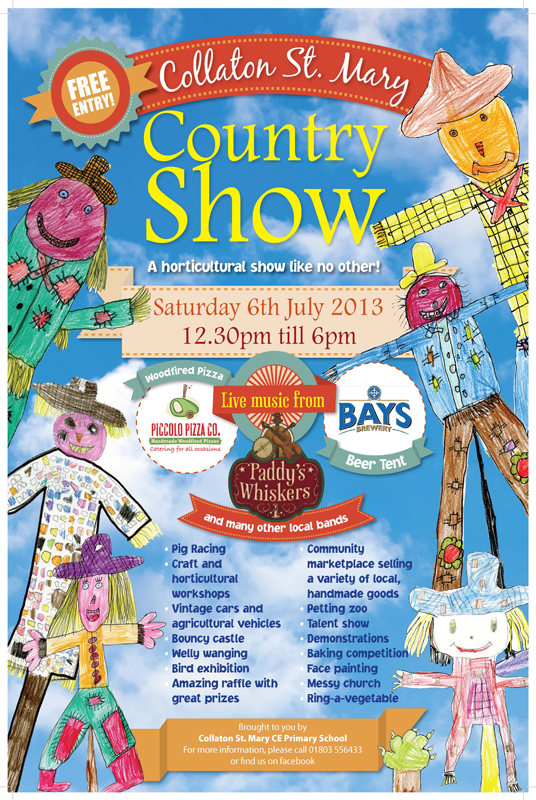 Paddy's Whiskers are playing at Collaton St.Mary Show