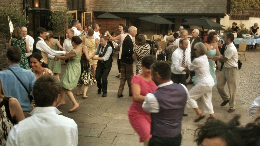 Ceilidh Dancing at The Corn Barn, Cullompton, Devon