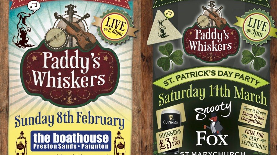 Paddy's Whiskers next live dates