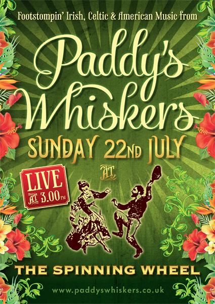 Live Irish Music Paignton Devon Paddy's Whiskers